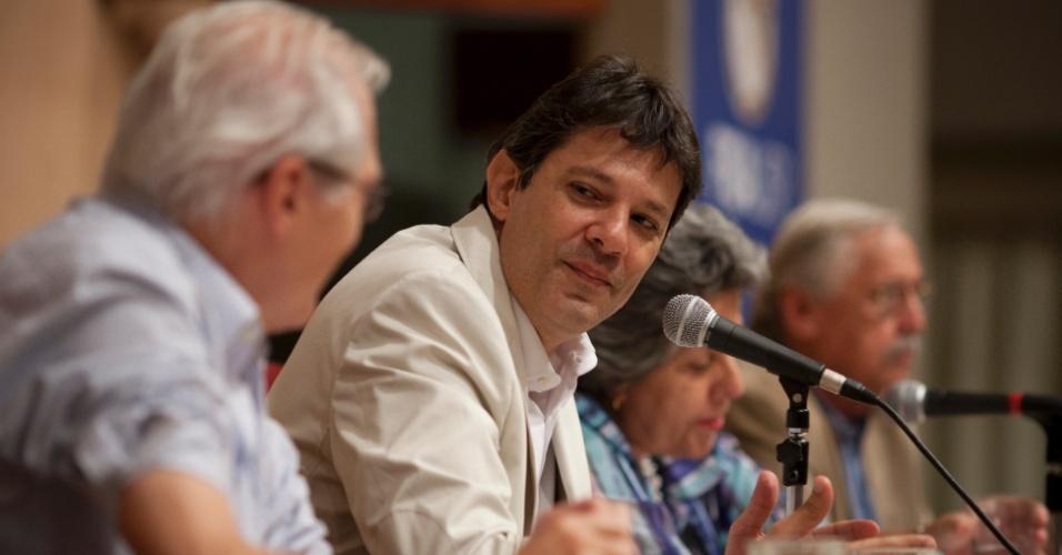Fernando Haddad participou nesta quinta-feira (22) de um seminário na  Universidade de São Paulo em homenagem aos 80 anos do professor Paul Singer