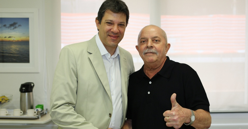 Fernando Haddad e o ex-presidente Luiz In&#225;cio Lula da Silva