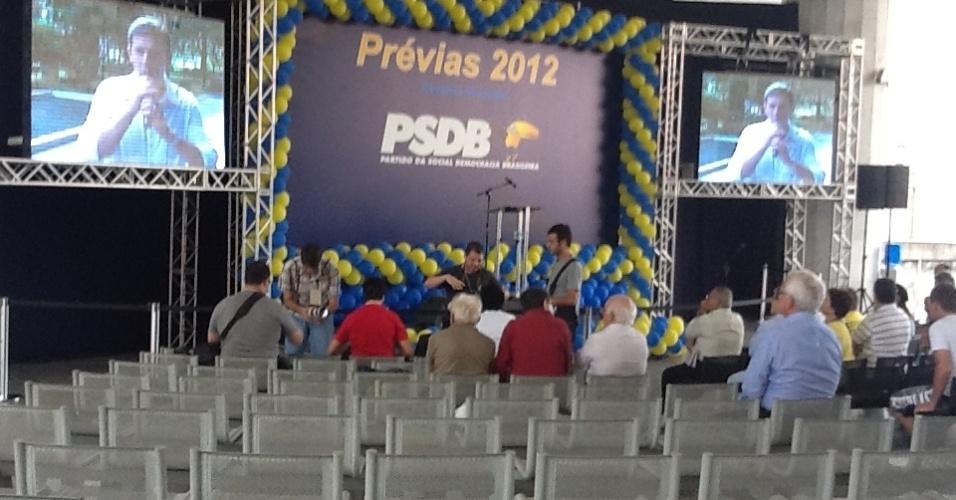 Militantes do PSDB chegaram na Câmara de São Paulo no final da tarde deste domingo (25), minutos depois do fim da votação das prévias tucanas. Estão na disputa José Serra, José Aníbal e Ricardo Tripoli