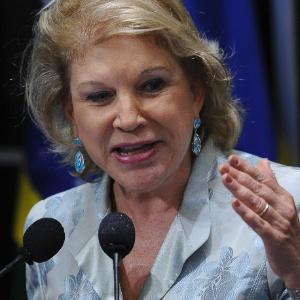 Senadora Marta Suplicy (SP) discursa no Senado; ela será pressionada a entrar na campanha de Haddad