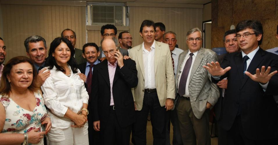 Pré-candidato Fernando Haddad se encontra com deputados na Assembleia Legislativa em São Paulo