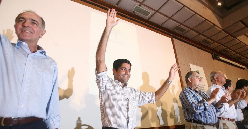 Deputado federal ACM Neto (DEM-BA) durante lançamento de sua candidatura à Prefeitura de Salvador