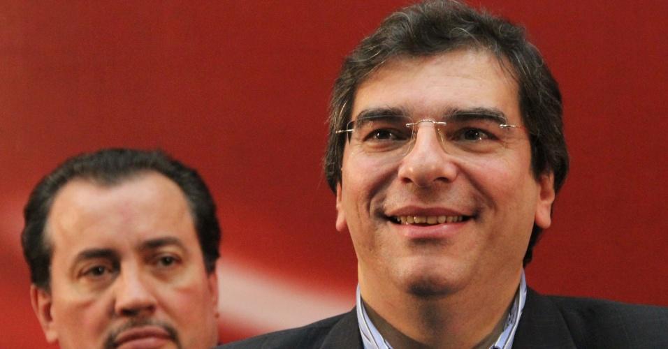 19.mai.2012 - Luiz Flávio D'urso, presidente da OAB e pré-candidato do PTB à Prefeitura de São Paulo, participa do encontro estadual da sigla em São Paulo