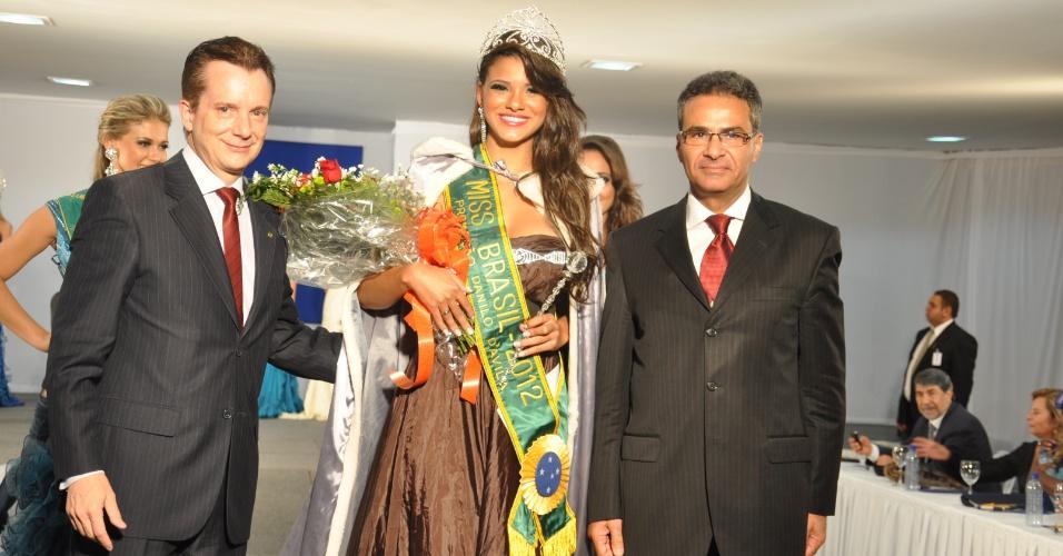 23.mai.2012 - O pré-candidato do PRB à Prefeitura de São Paulo, Celso Russomanno, participa de concurso de beleza em Brasília
