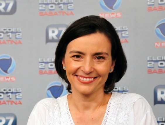 30.mai.2012- Soninha participa de sabatina no R7