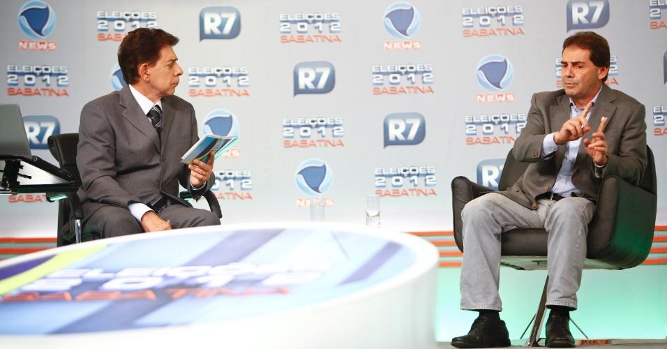 1.jun.2012 - Pré-candidato do PDT à Prefeitura de São Paulo, Paulo Pereira da Silva, participa de sabatina organizada pela Record News e pelo portal R7