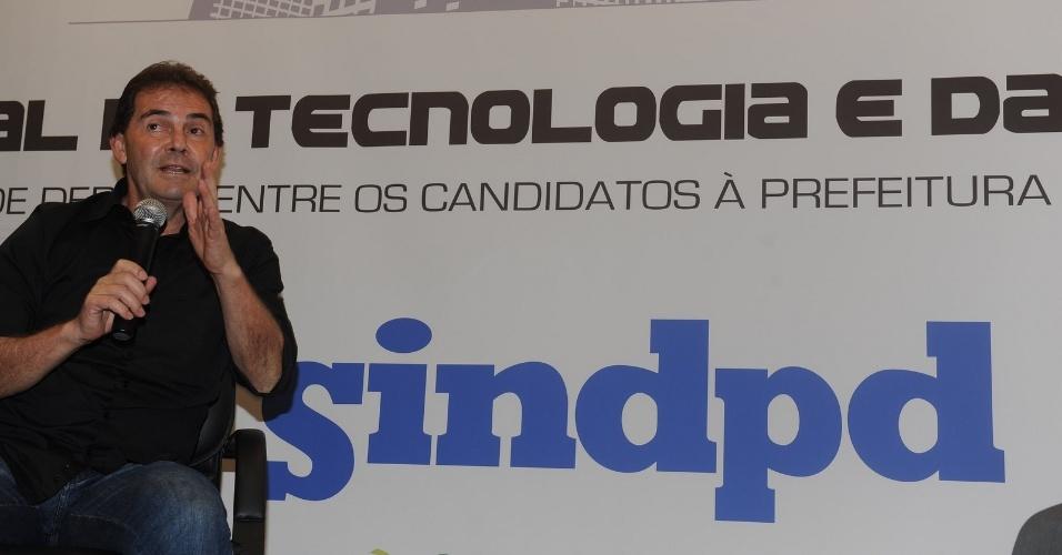 17.ago.2012 - Paulinho da Força, candidato do PDT à Prefeitura de São Paulo, apresentou seu projeto de governo para integrantes do Sindicato do Trabalhadores em Processamento de Dados do Estado de São Paulo