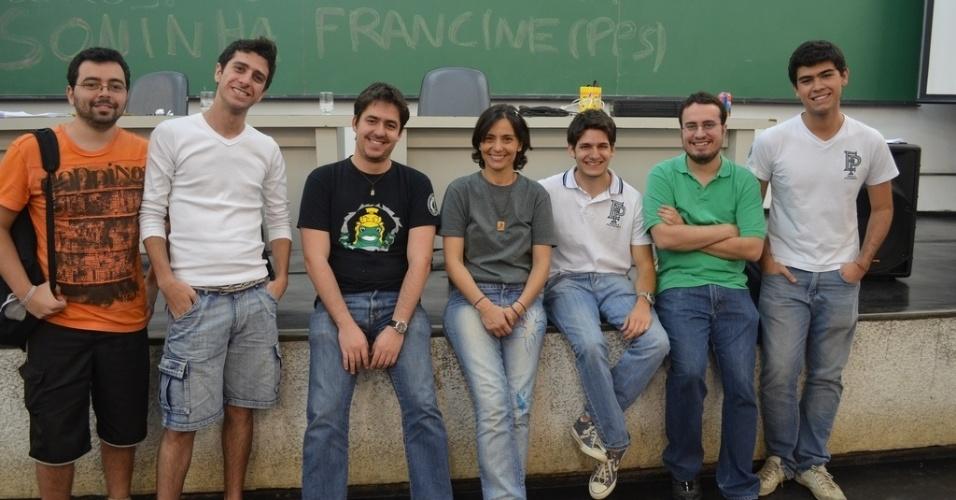 21.ago.2012 - A candidata do PPS à Prefeitura de São Paulo, Soninha Francine, participou de sabatina com estudantes do Grêmio Politécnico da USP
