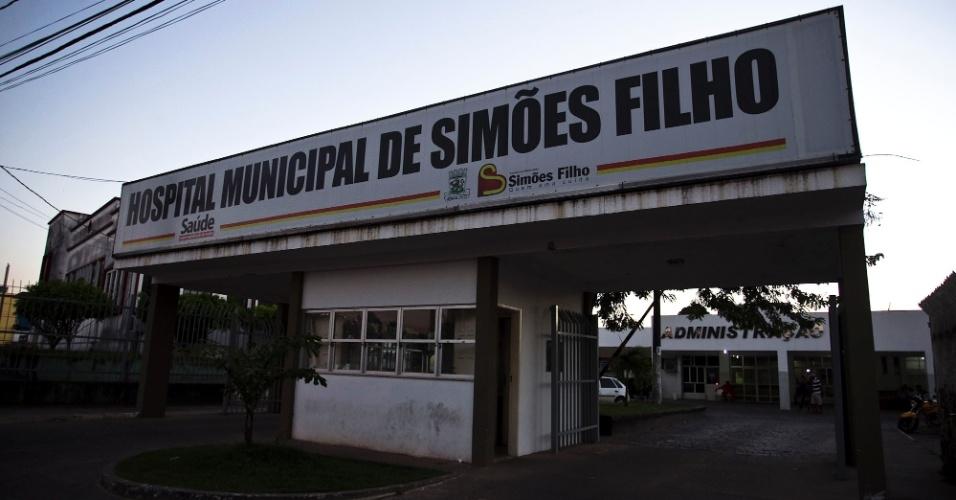 Fachada do hospital municipal de Simões Filho (BA)