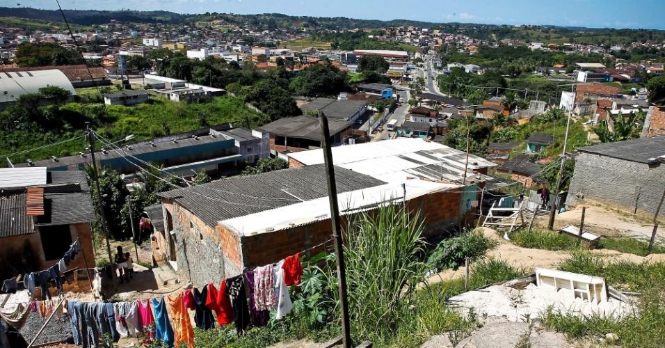 Vista do município de Simões Filho (BA)