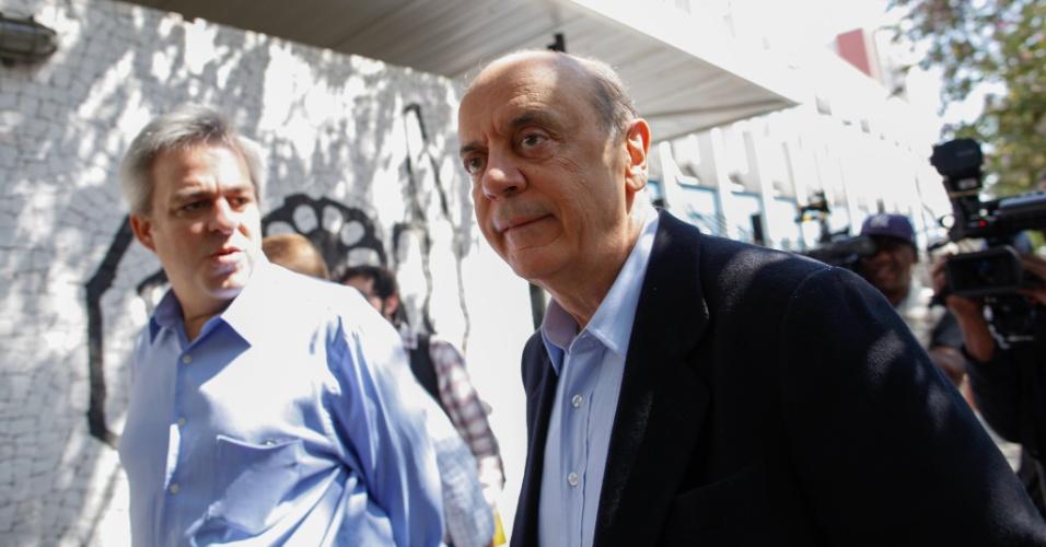 31.ago.2012 - Em visita à APAE- SP, o candidato do PSDB à Prefeitura de São Paulo, José Serra, negou que fará mudanças na sua estratégia de campanha, mesmo com a queda nas pesquisas eleitorais