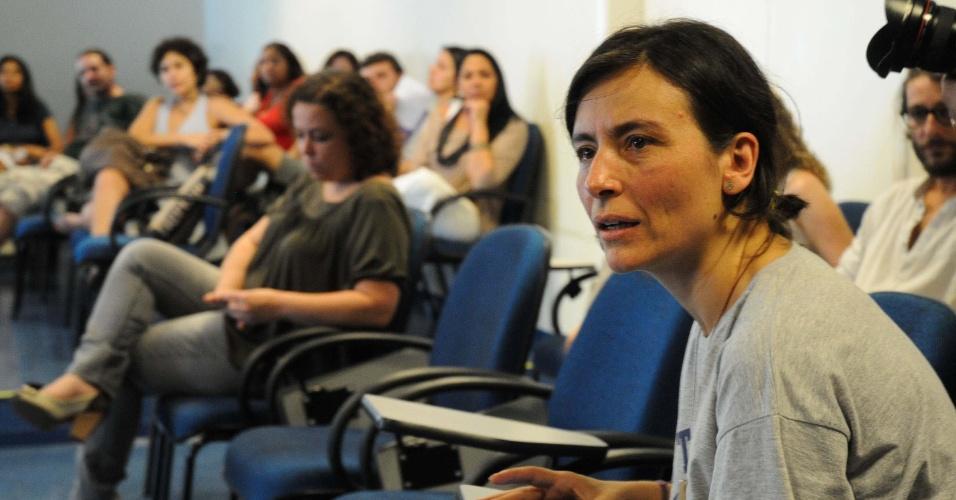 17.set.2012 - Soninha Francine (à dir.), candidata do PPS à Prefeitura de São Paulo, visita o projeto Quixote na zona sul da cidede