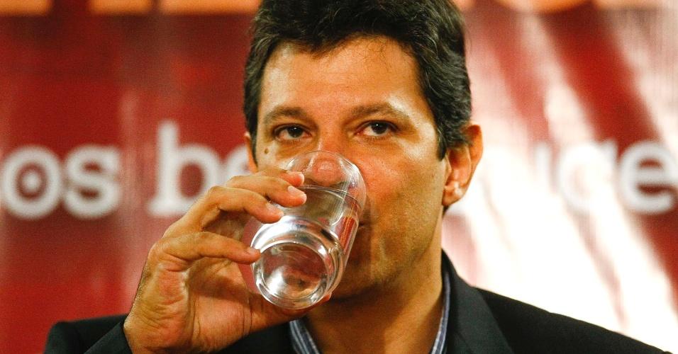 14.mar.2012 - Pré-candidato a prefeito de São Paulo pelo PT, Fernando Haddad, participa de seminário