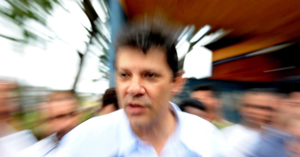 Pré-candidato à prefeitura de São Paulo pelo PT Fernando Haddad visitou a comunidade do Jardim São Saverio e do Parque Bristol