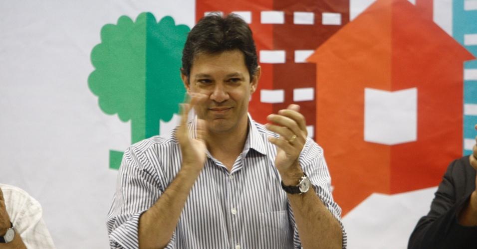 O pré-candidato à Prefeitura da capital paulista pelo PT Fernando Haddad participou do Seminário