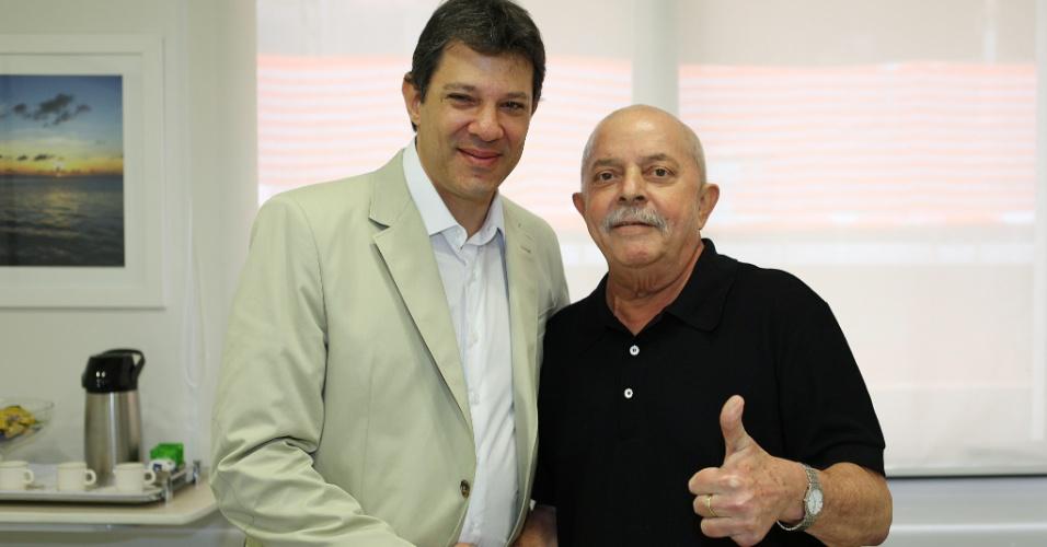 Fernando Haddad e o ex-presidente Luiz Inácio Lula da Silva