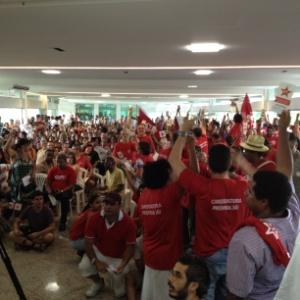 Encontro do PT em Belo Horizonte, no qual o partido definiu apoio a Márcio Lacerda (PSB) em março