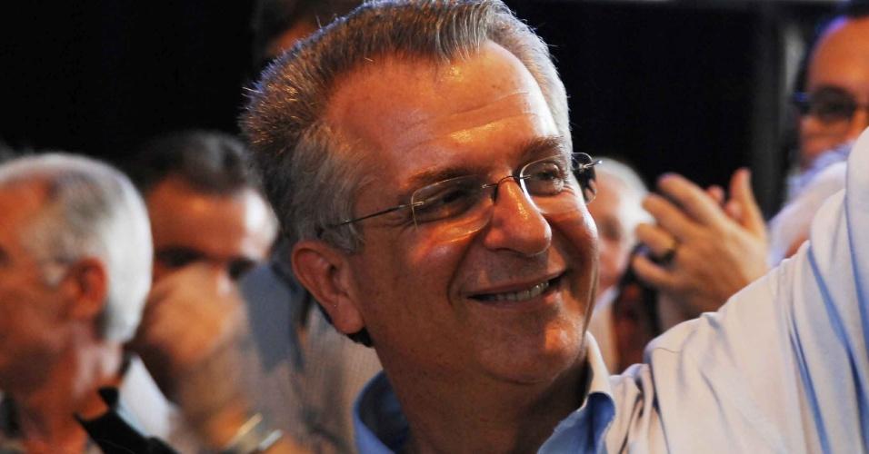 O secretário estadual da Cultural de SP, Andrea Matarazzo,  acompanha o resultado das prévias tucanas realizadas em São Paulo; o ex-governador José Serra recebeu 52% dos votos e será o candidato do PSDB na capital paulista
