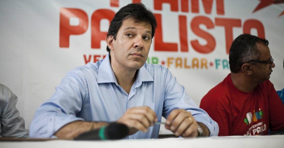 Pré-candidato do PT Fernando Haddad participou da plenária