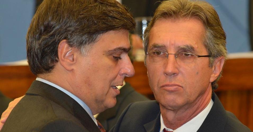 Pedro Serafim (à esq.), do PDT, foi eleito prefeito de Campinas nesta terça-feira (10) com 22 votos de vereadores