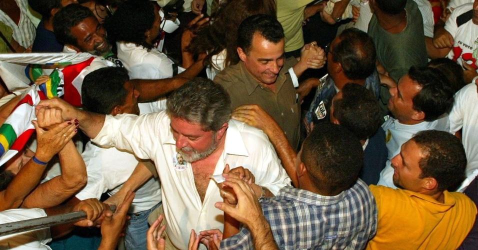 candidato do PT à Presidência da República, Luiz Inácio Lula da Silva, chega para comício no centro de Palmas