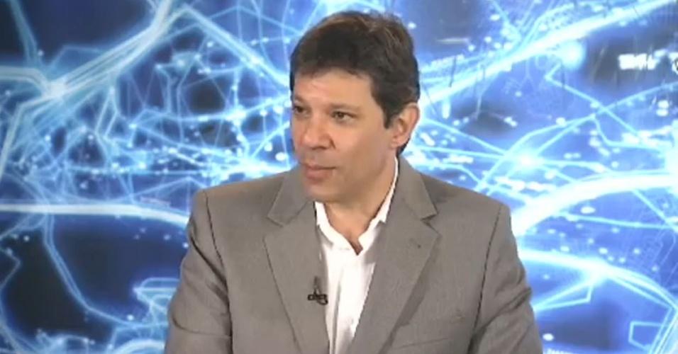 Fernando Haddad em entrevista na Band News, em 25.04