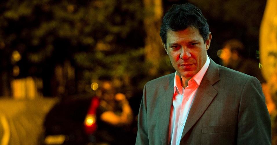 11.mai.2012 - Pré-candidato do PT a prefeito de São Paulo, Fernando Haddad, visitou a região das subprefeituras da Casa Verde e Cachoeirinha. Na foto, ele fala em plenária com militantes