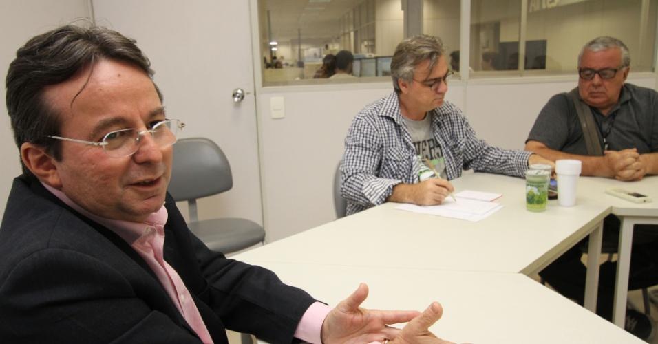 15.mai.2012 - Prefeito de Recife, João da Costa (PT) em entrevista ao Jornal do Commercio