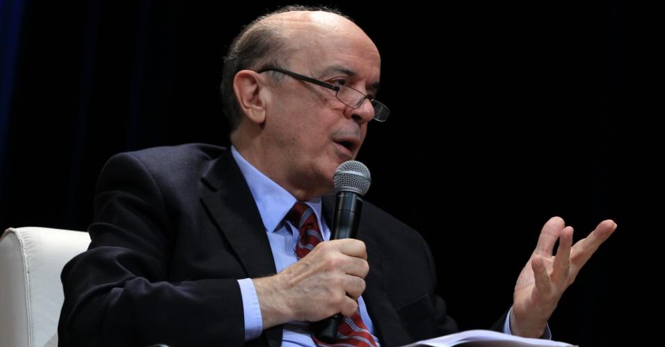 José Serra, pré-candidato à Prefeitura de São Paulo pelo PSDB, participa de debate sobre metrópoles organizado pelo Insper com Manuela D´Ávila, pré-candidata em Porto Alegre