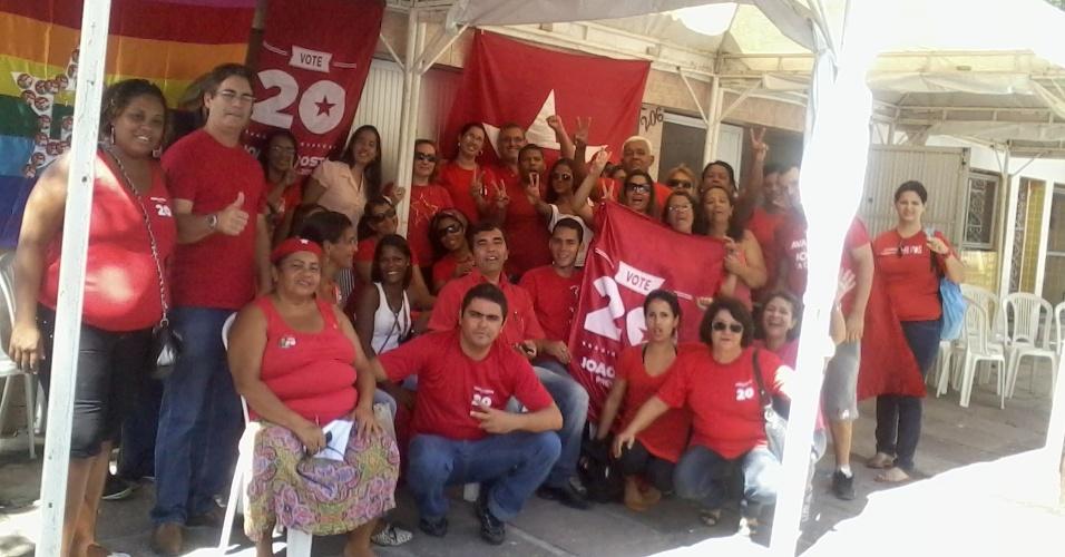 05 jun. 2012 - Vigília de petistas pela candidatura de João da Costa, que tenta a reeleição