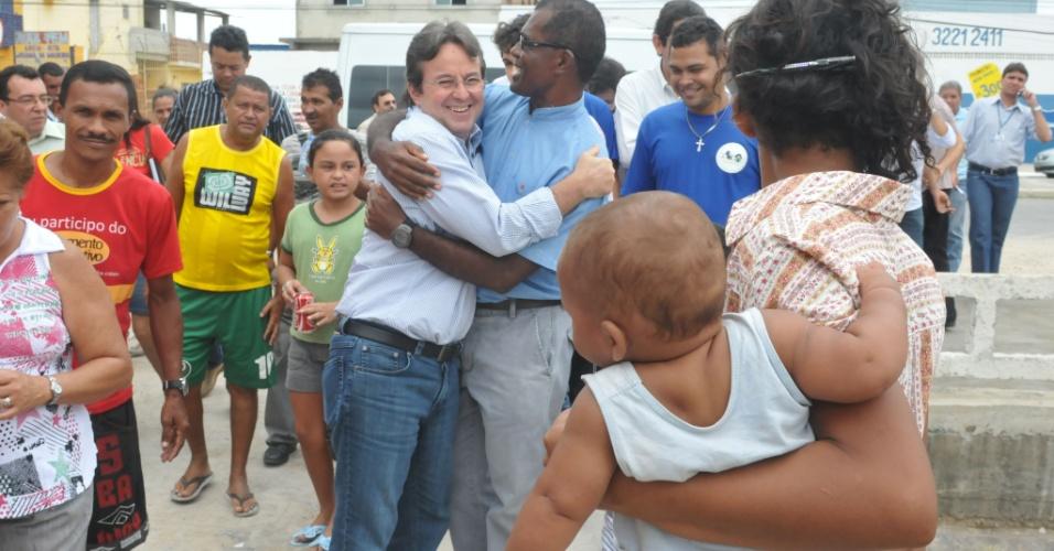 João da Costa em visita à obra no Recife