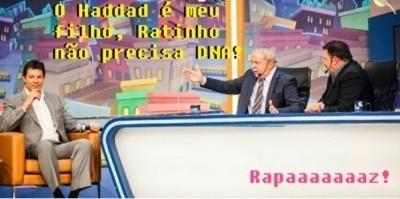 A ida de Lula com o pré-candidato do PT à Prefeitura de São Paulo, Fernando Haddad, também gerou piadas na internet