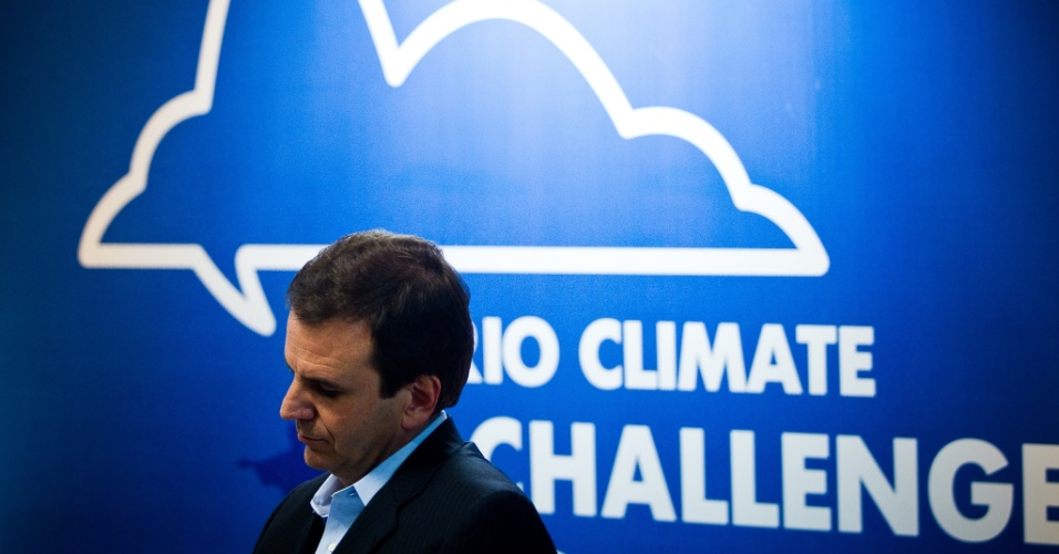 14.jun.2012 - O prefeito do Rio de Janeiro, Eduardo Paes (PMDB), participa da cerimônia oficial de abertura da Rio Climate Challenge, na sede da Firjan