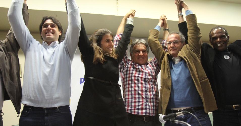 16 jun. 2012 - Convenção do PSD para dar apoio à Manuela D'Ávila, pré-candidata à Prefeitura de Porto Alegre