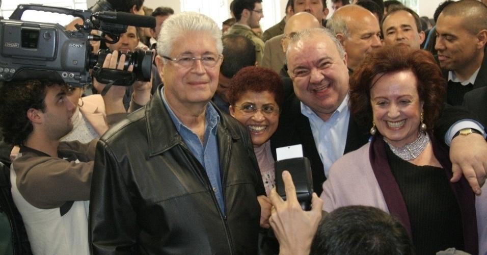 23.jun.2012 - O ex-ministro do Turismo, Rafael Geca foi escolhido na convenção do PMDB de Curitiba para ser o candidato do partido à Prefeitura de Curitiba