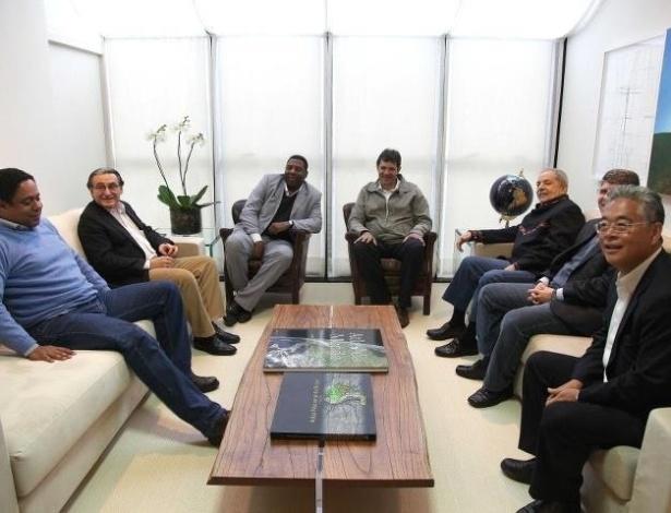 25.jun.2012 - O PC do B de Netinho de Paula anunciou apoio à candidatura de Fernando Haddad (PT) à Prefeitura de São Paulo. Netinho ficou