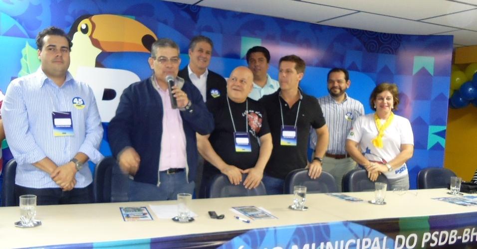 30.jun.2012 - Presidente do Diretório Estadual do PSDB em Minas Gerais, Marcus Pestana, discursa durante convenção do partido em Belo Horizonte