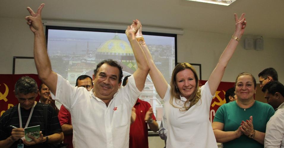 3.jul.2012 - PT confirma o nome do ex-secretário municipal do Trabalho e Desenvolvimento Social Vital Melo como candidato a vice na chapa encabeçada por Vanessa Grazziotin (PC do B) para a Prefeitura de Manaus