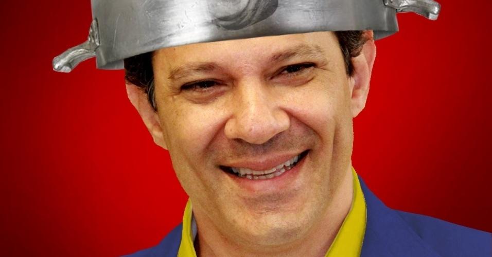 19.jul.2012 - Fernando Haddad, candidato do PT à Prefeitura de São Paulo, ganha charge na internet, após seu partido anunciar o apoio de Paulo Maluf à sua candidatura. Na imagem, ele é o