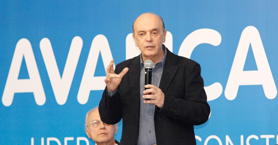 20.jul.2012 - O candidato do PSDB à Prefeitura de São Paulo, José Serra, participa do curso de liderança em campanha eleitoral para candidatos a vereador tucanos e partidos aliados, no Diretório Estadual do PSDB, no bairro de Indianópolis, zona sul da capital paulista