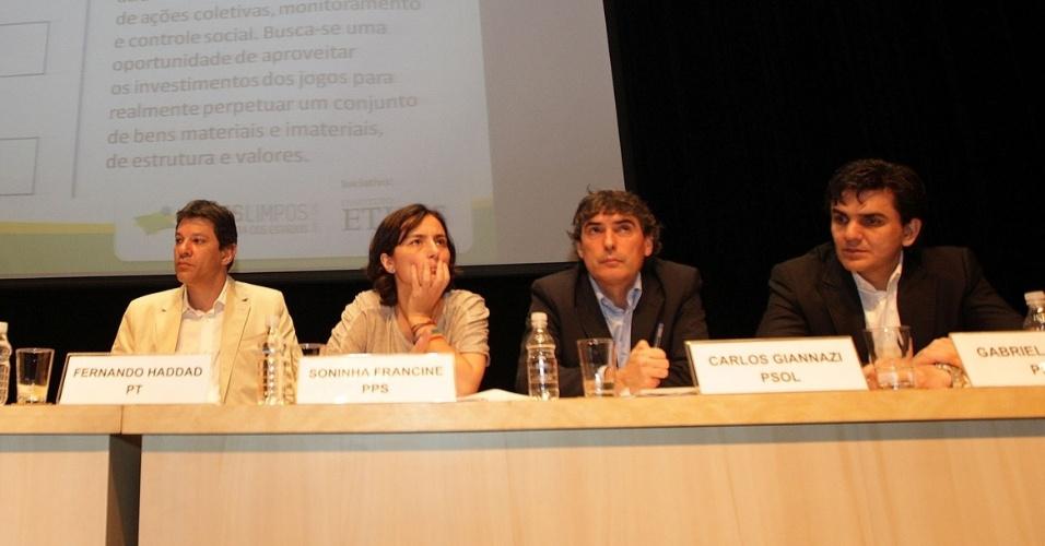 1.ago.2012 - Os candidatos à Prefeitura de São Paulo participaram nesta quarta-feira  do debate
