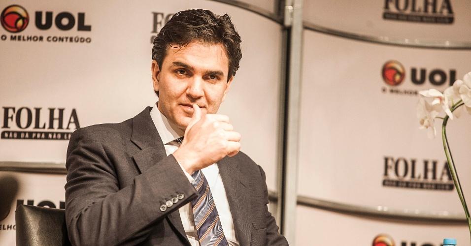14.ago.2012 - O candidato do PMDB à Prefeitura de São Paulo, Gabriel Chalita, abre a primeira rodada de sabatinas Folha/UOL. Chalita tem 43 anos e nasceu na cidade de Cachoeira Paulista, no Estado de São Paulo