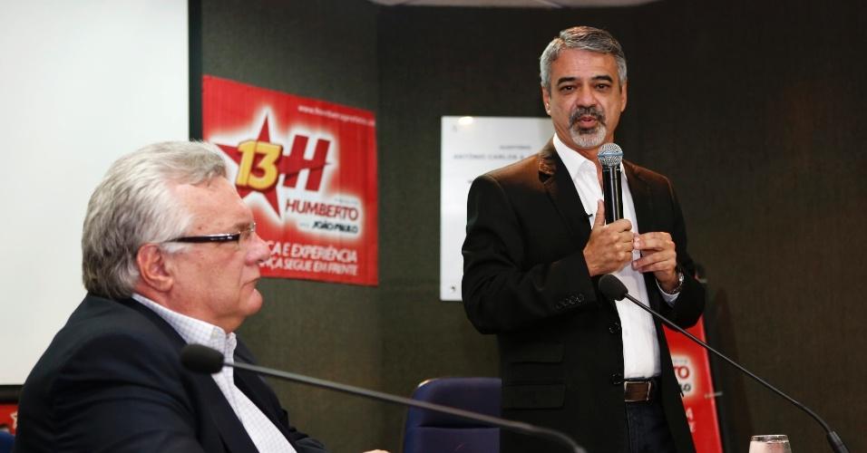 14.ago.2012 - O candidato do PT à Prefeitura do Recife, Humberto Costa, apresentou suas propostas de governo para empresários da Federação das Indústrias do Estado de Pernambuco