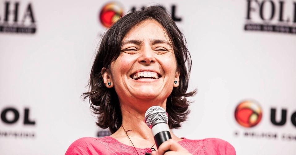 15.ago.2012 - A candidata à Prefeitura de São Paulo pelo PPS diz ainda que é possível comprar um vereador em São Paulo em troca de apoio