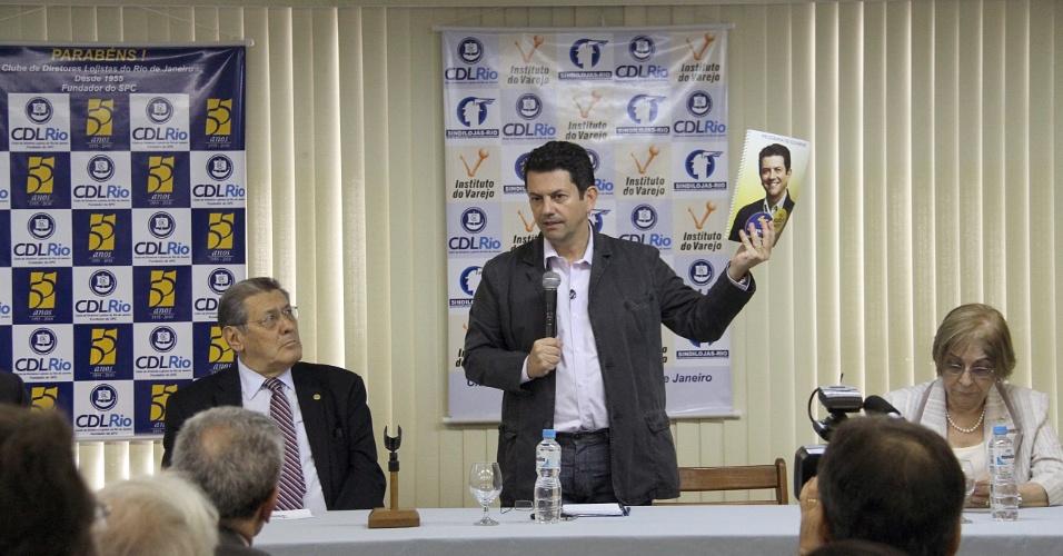 20.ago.2012 - Otávio Leite, candidato do PSDB à Prefeitura do Rio de Janeiro, apresentou seu plano de governo nesta segunda-feira aos integrantes do Sindicato dos Lojistas do Comércio do Município do Rio de Janeiro