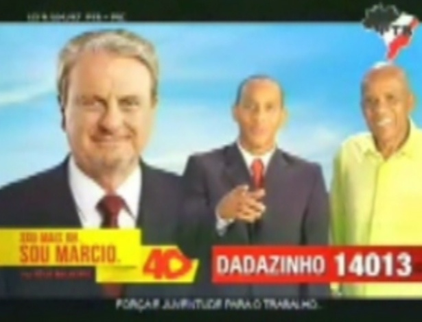 Dadazinho (PTB), candidato a vereador em Belo Horizonte, aproveita a popularidade do pai, o ex-centroavante do Atlético-MG Dadá Maravilha (à dir.), para conseguir votos