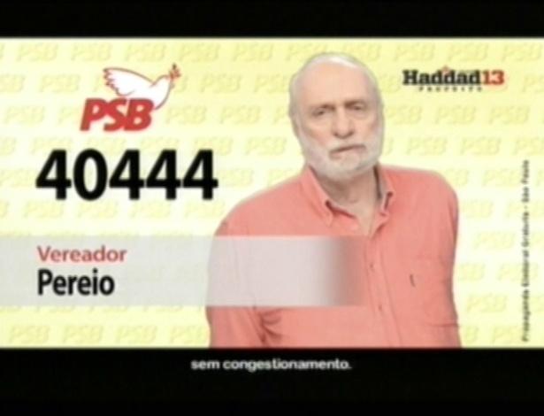O ator Paulo César Pereio (PSB) é candidato a vereador em São Paulo