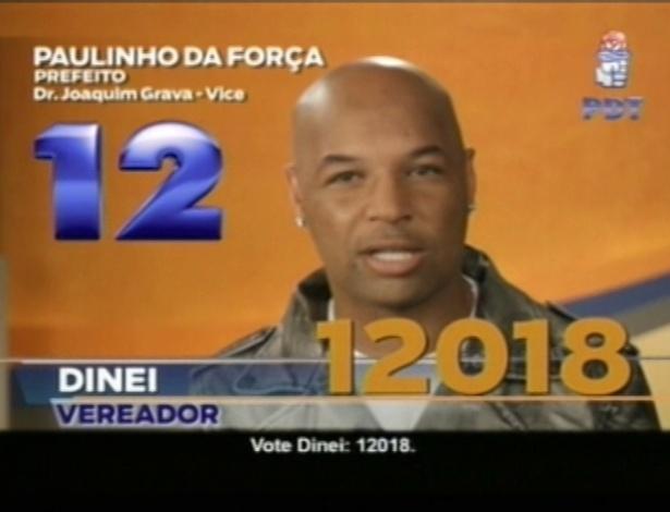 O ex-jogador Dinei (PDT), candidato a vereador em São Paulo, tenta conseguir votos usando a sua imagem relacionada ao Corinthians