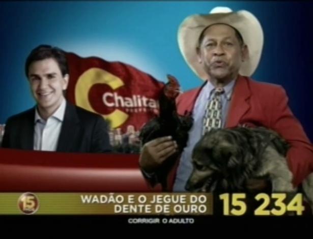 Wadão e o Jegue do Dente de Ouro (PMDB) é candidato a vereador em São Paulo
