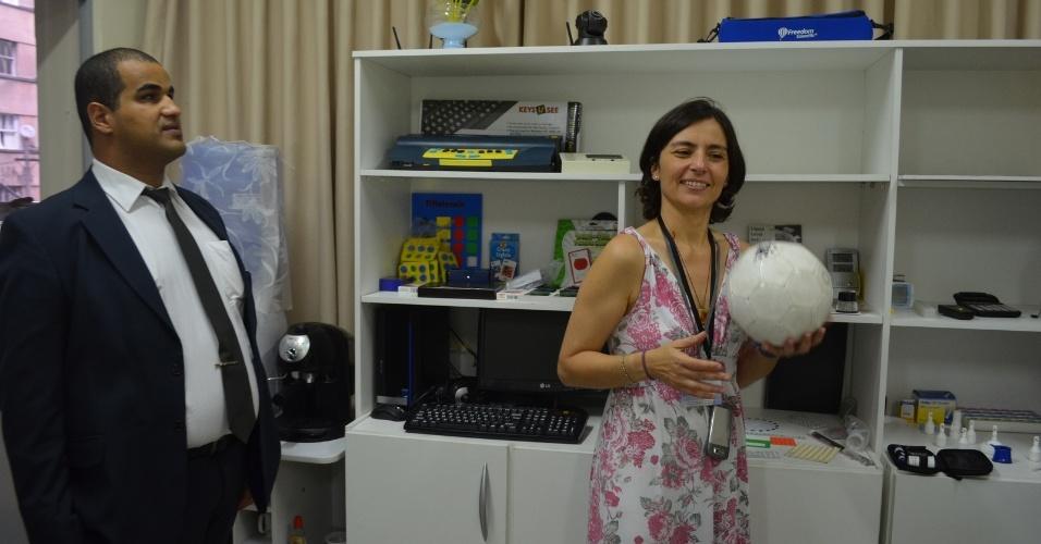 22.ago.2012 - A candidata do PPS à Prefeitura de São Paulo, Soninha Francine, visitou nesta quarta-feira o CIATA (Centro de Inclusão Através da Tecnologia Assistiva), ONG que oferece espaço inclusivo e gratuito para treinamento de pessoas com deficiência visual